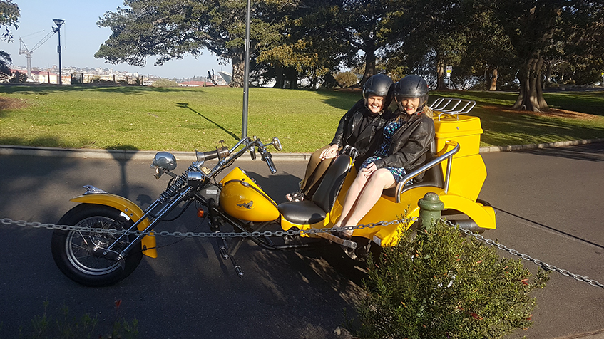sisters pre-hens party trike tour around Sydney