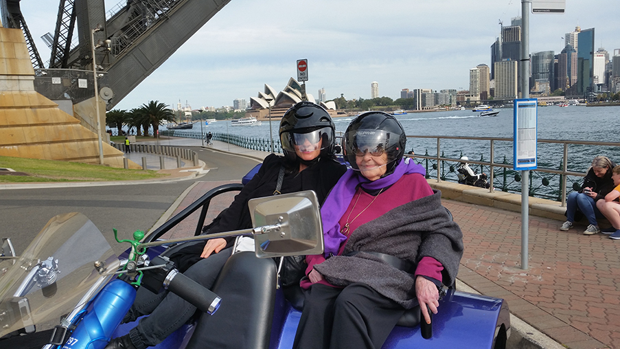 thrillseeker trike tour for 84th birthday