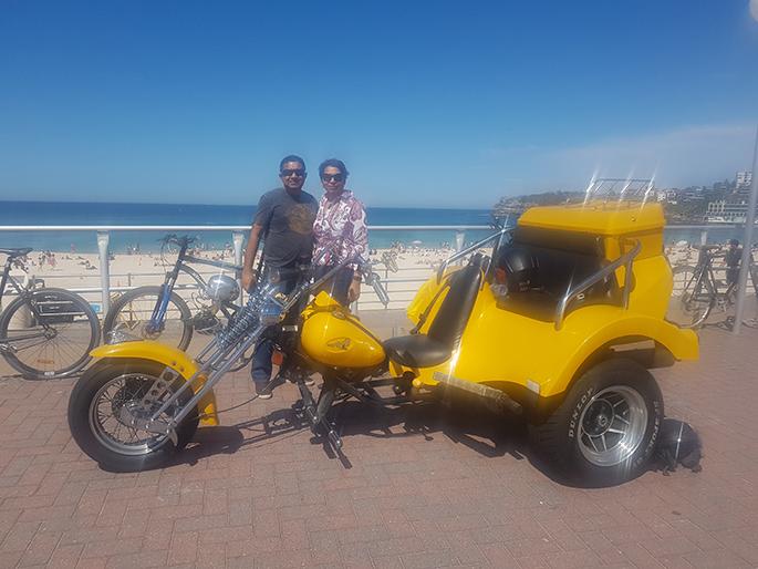 trike tour to Bondi Beach Sydney