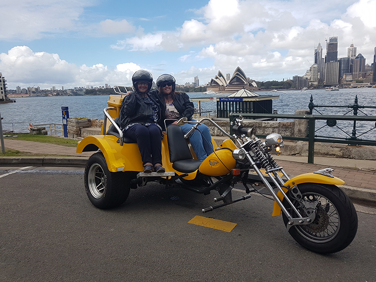 3 Bridges trike tour for 70th birthday