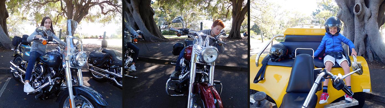Harley and trike tour Sydney Australia