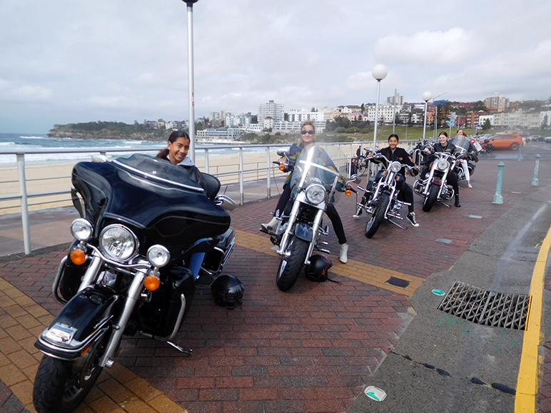 Harley ride Bondi Beach Sydney