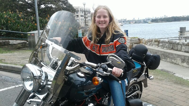 Harley ride for 14 year old birthday