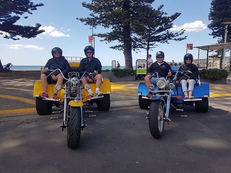 trike tour Manly to Bondi Beach Sydney