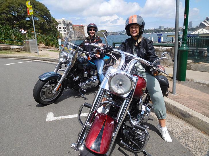 Harley ride birthday celebration