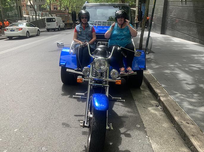 sisters trike tour around Sydney