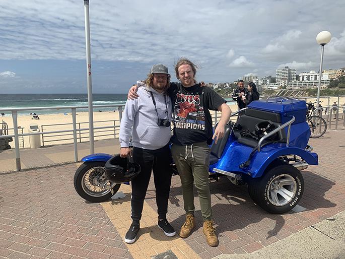 trike ride around Bondi Beach