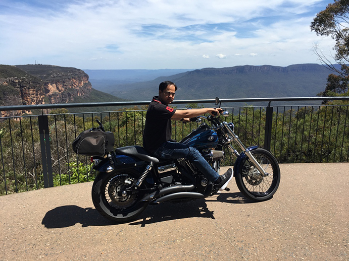 Harley Blue Mountains tour