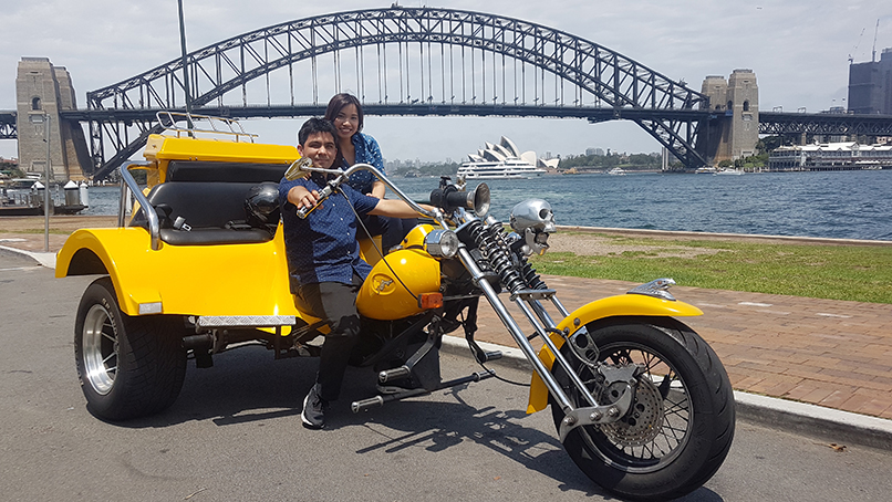 trike Sydney Harbour Bridge ride
