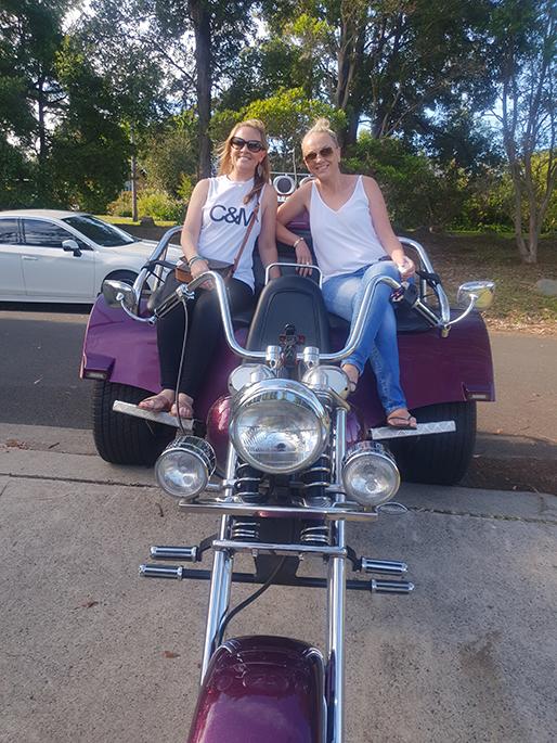 trike ride to Bon Jovi Concert