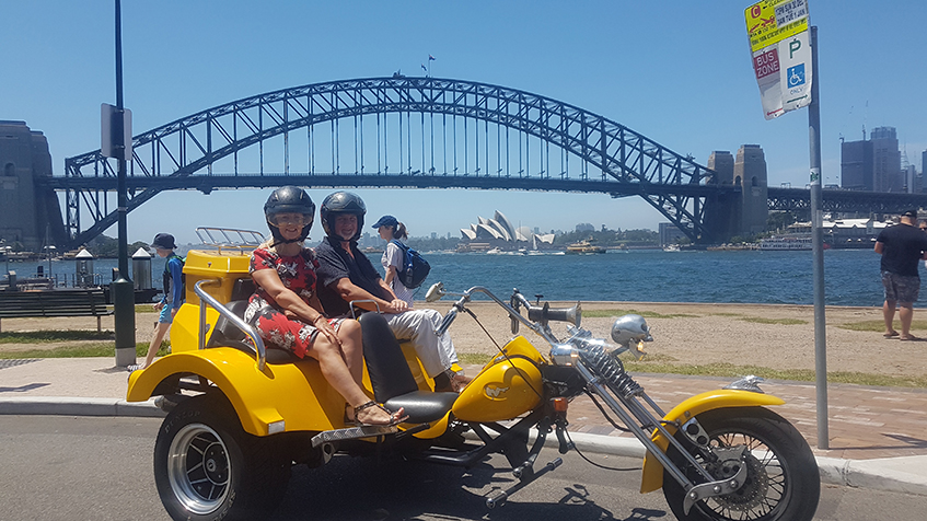 Sydney bridge trike tour