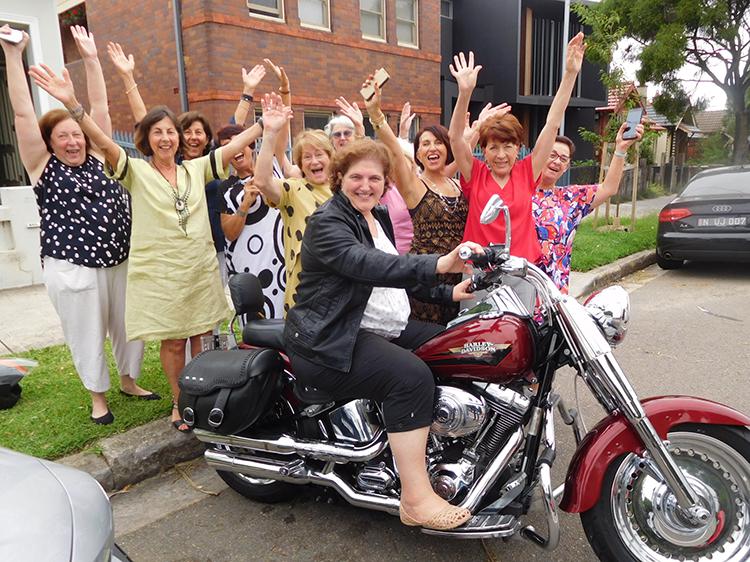 surprise birthday Harley ride