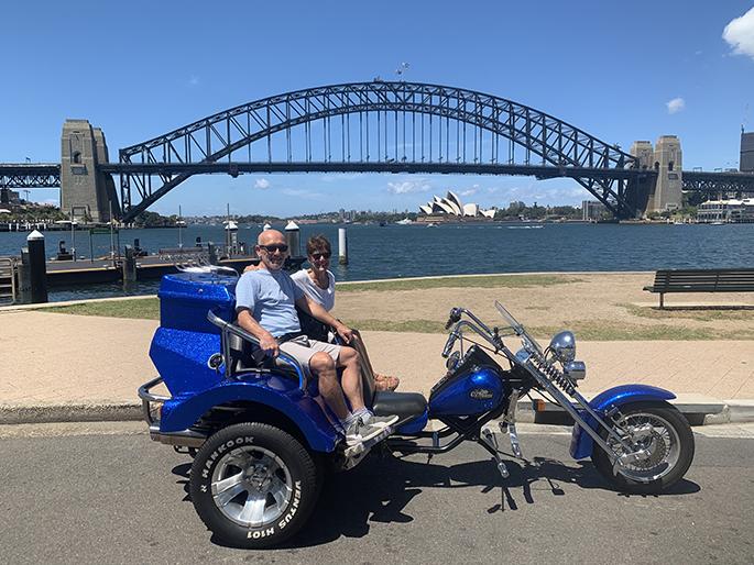 Sydney sightseeing trike ride