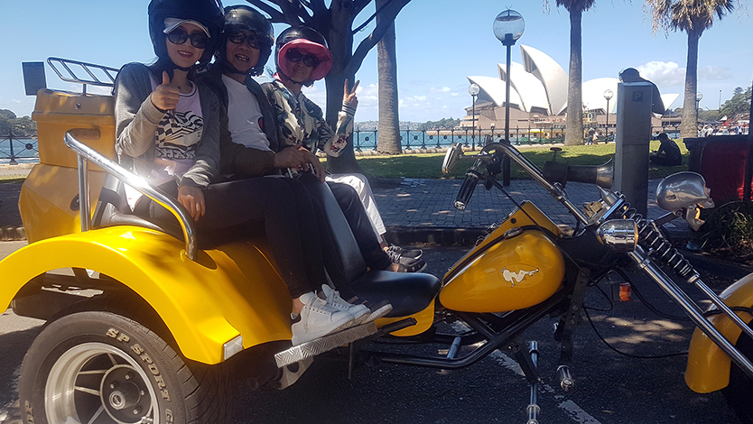 trike touring around Sydney