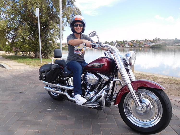 Harley ride 40th birthday present