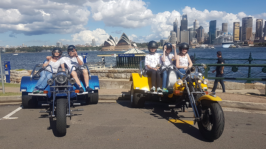 family's 14th birthday trike ride