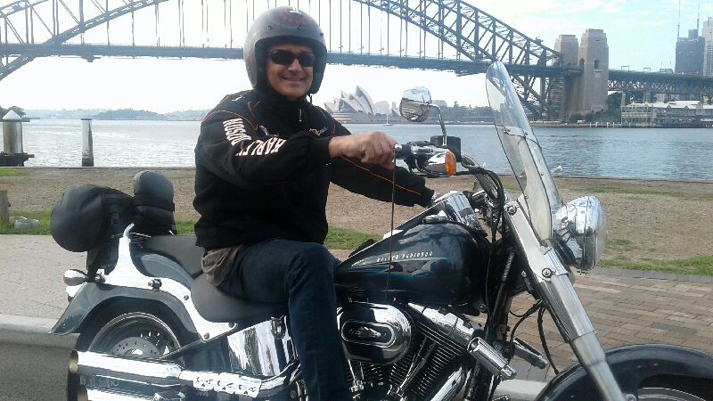 Harley ride around 3 Bridges