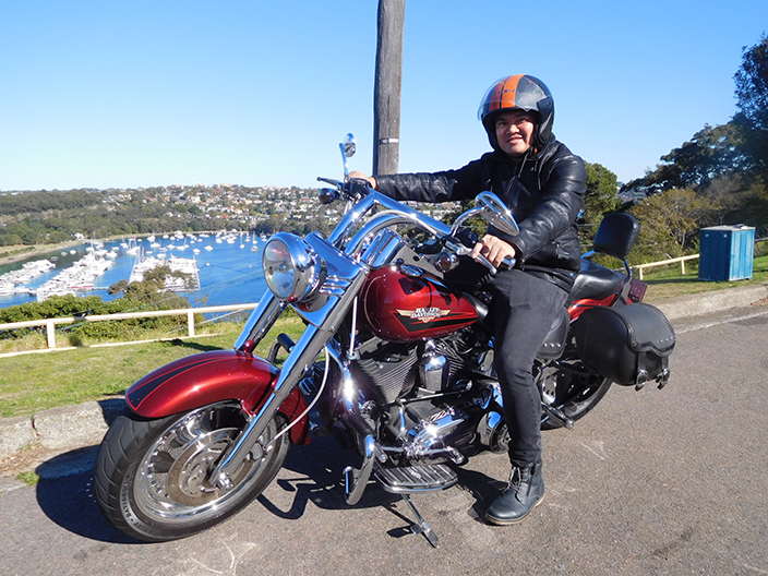 Harley ride around Middle Harbour