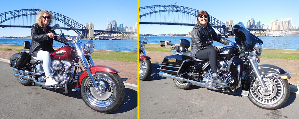 Harley tour around Sydney sights