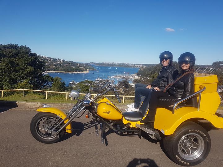 surprise birthday trike tour