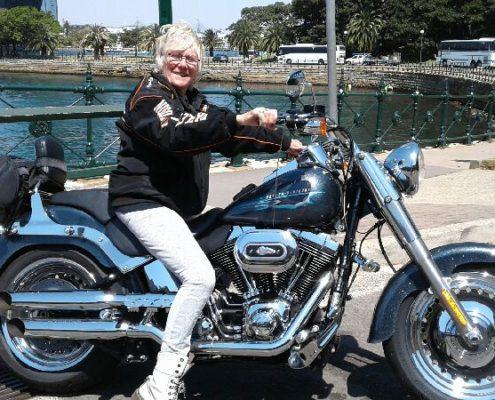 Harley ride across 3 Bridges