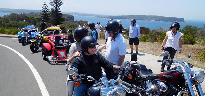 Harley and trike Sydney tour