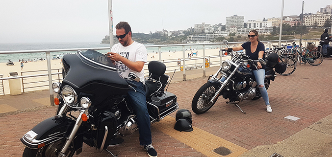 Bondi Beach Harley tour, Sydney