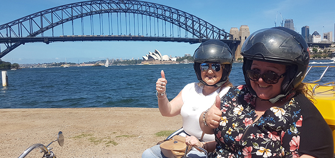 the 3 Bridge trike tour, Sydney