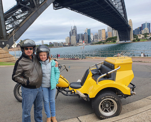 surprise 60th trike ride surprise 60th trike ride over the Sydney Harbour Bridge