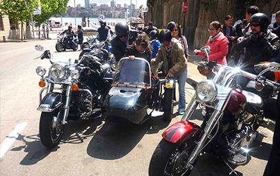 Harley sidecar tour, Sydney