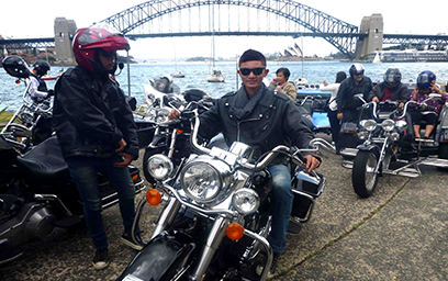 Harley tours, Sydney Harbour