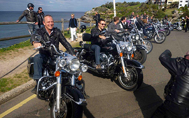 Group Harley tour, Manly Sydney Australia