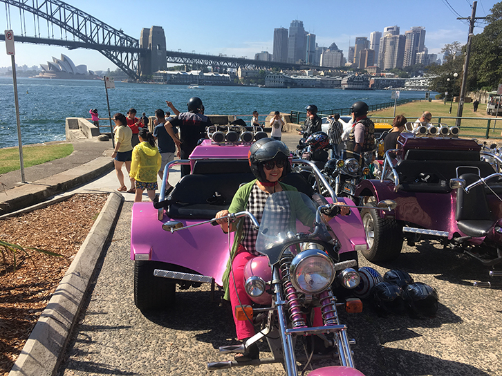 Trike ride with Chinese tourists