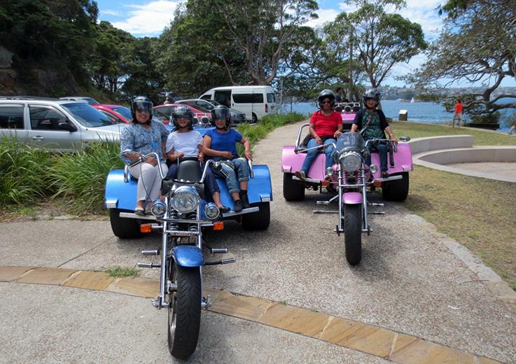 Harley trike tour Sydney