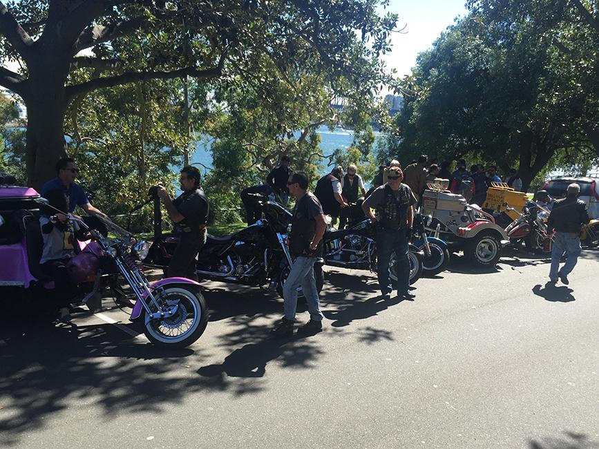 Harley tour Mrs Macquaries Chair