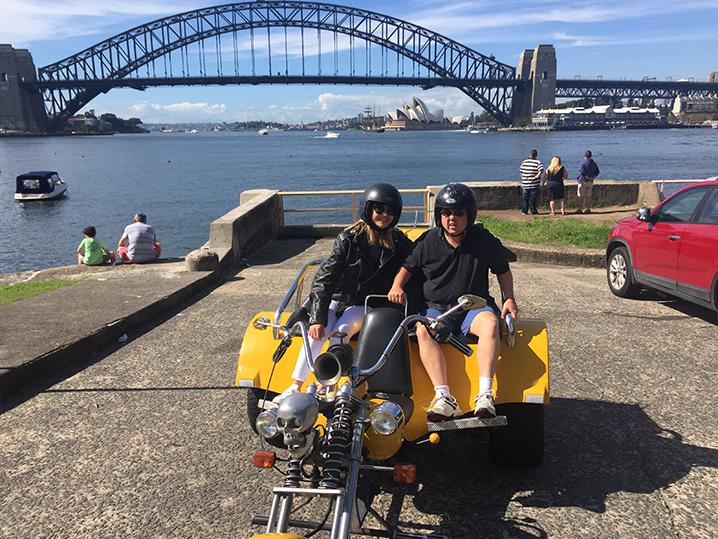 Harley trike ride 3 Bridges Sydney