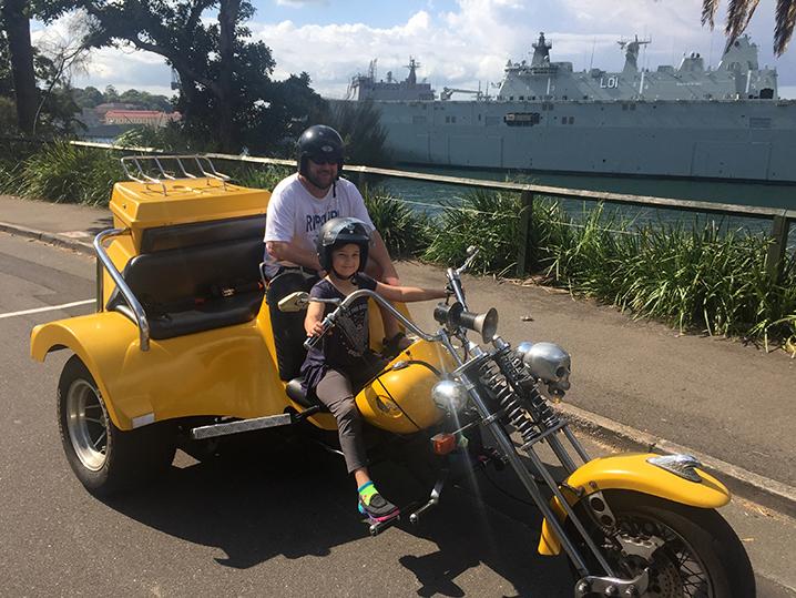 Harley-trike-tour-birthday-ride-surprise-Sydney
