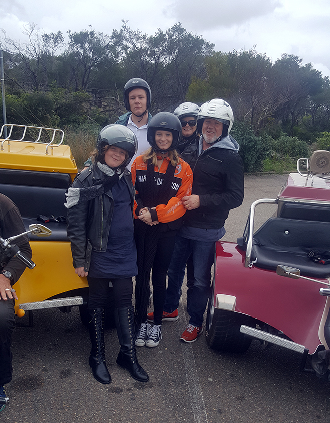 Harley trike tours Manly Sydney family fun