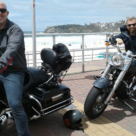 Harley ride Bondi Beach Sydney