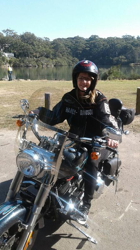 Christmas present Harley ride