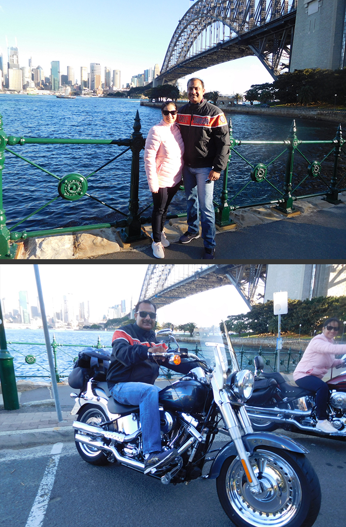 Harley rides in a Sydney winter with Troll Tours