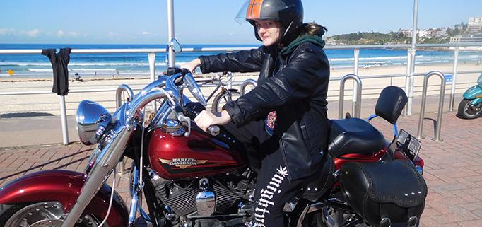 surprise 18th Harley ride, Sydney