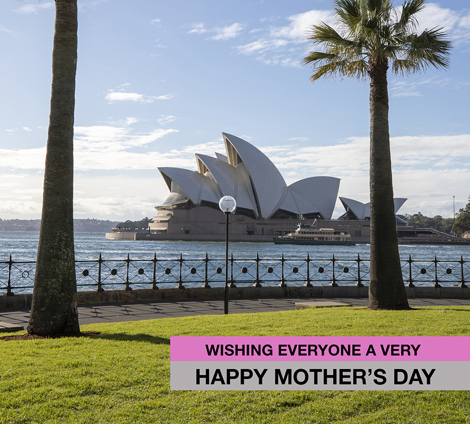 Happy Mother's Day from near the Sydney Opera House