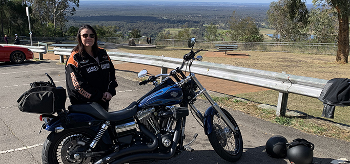 Harley tour lower Blue Mountains, Sydney