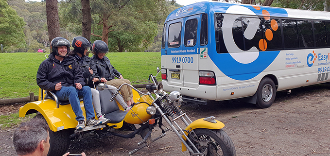 Short trike rides for disability, Sydney