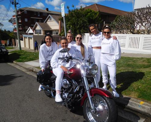 Hens party Harley transfer, Sydney