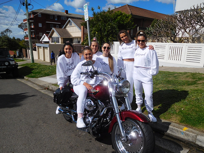 Hens party Harley transfer, Sydney