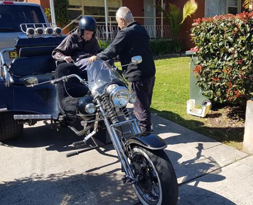 Aged disability trike ride, Sydney
