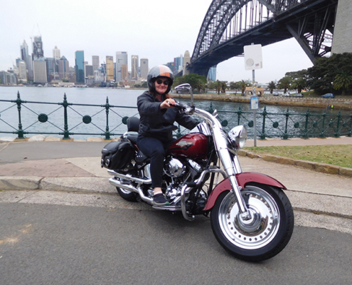 Harley tour in Sydney, Australia
