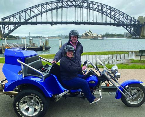 North Shore Skimmer trike tour transfer, Sydney